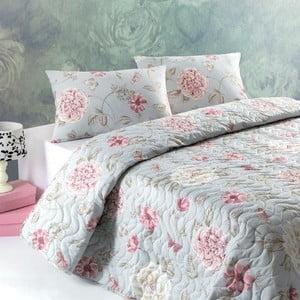 Přehoz přes postel na dvoulůžko s povlaky na polštáře Santos,200x220cm