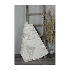 Béžová bavlněná koupelnová předložka My Home Plus Sensation, 60 x 100 cm