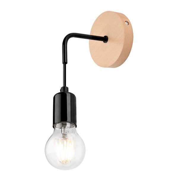 Černá nástěnná lampa Lamkur Orazio