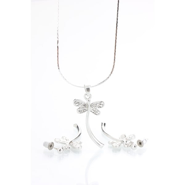 Tiara nyaklánc és fülbevaló Swarovski kristályokkal - Laura Bruni