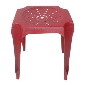 Kovová stolička Tabouret Rouge
