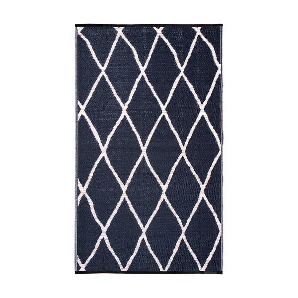 Modro-béžový oboustranný venkovní koberec z recyklovaného plastu Fab Hab Nairobi Natural & Black, 120 x 180 cm