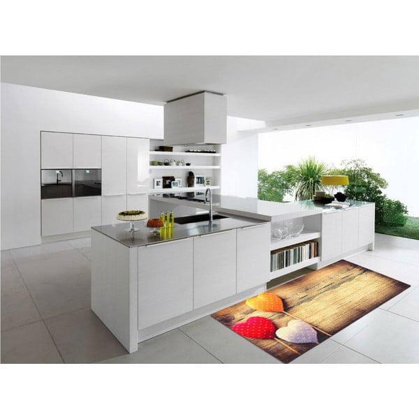 Vysoce odolný kuchyňský koberec Webtappeti Sweethearts,60x240cm