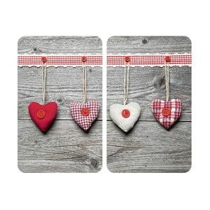 Sada 2 skleněných krytů na sporák Wenko Heart
