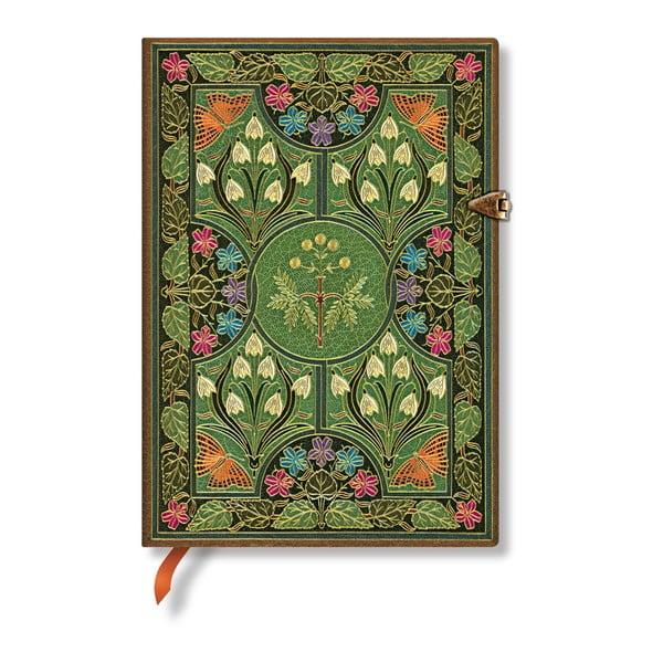 Nelinkovaný zápisník s tvrdou vazbou Paperblanks Poetry in Bloom, 13 x 18 cm