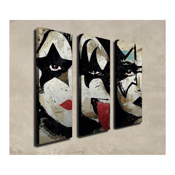 3dílný nástěnný obraz na plátně The Kiss