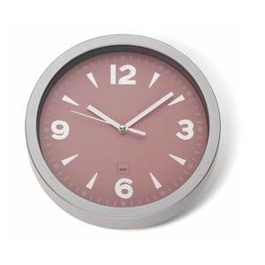 Růžové nástěnné hodiny Kela Mailand, ø20cm
