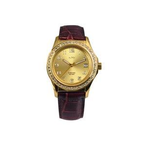 Dámské hodinky Alfex 56778 Yelllow Gold/Brown