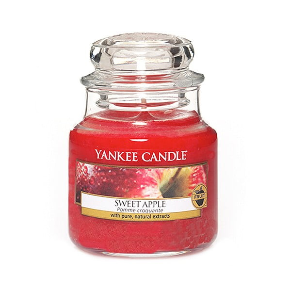Lumânare parfumată Yankee Candle Sweet Apple, timp de ardere 25 - 40 ore