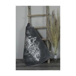 Tmavě šedá bavlněná koupelnová předložka My Home Plus Sensation, 60 x 60 cm