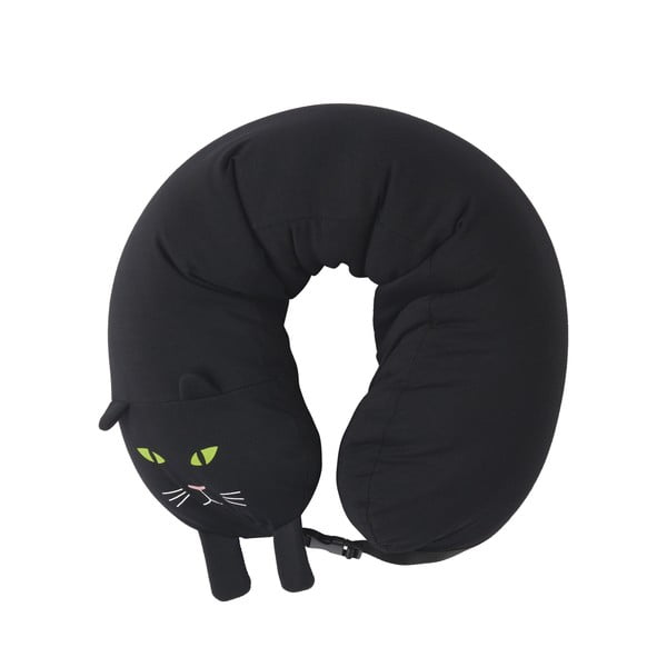 Pernă suport gât DOIY Cat, negru