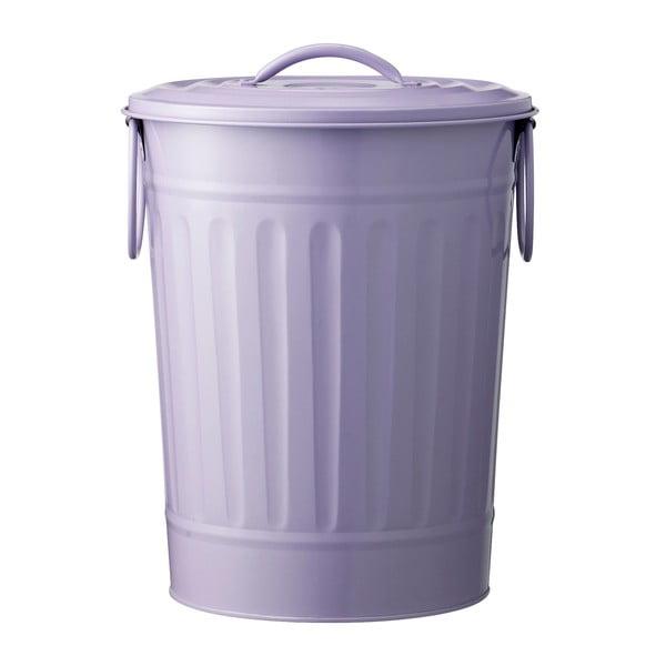 Kovový fialový koš