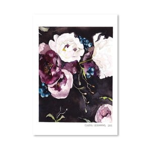 Poster Blooms on Black V, 30 x 42 cm
