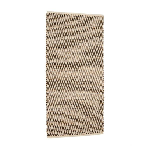 Hnědý koberec zjuty akůže Simla, 90x60cm