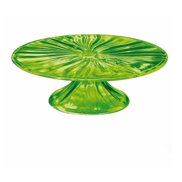 Zelený podnos na dort Fratelli Guzzini Cake