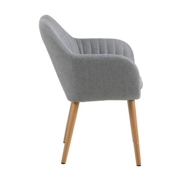 Světle šedá jídelní židle Actona Emilia
