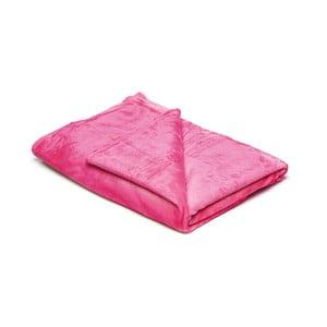 Růžová mikroplyšová deka My House, 150x200cm