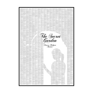 Knižní plakát Tajná zahrada, 70x100 cm