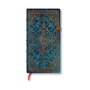 Modrý linkovaný zápisník s tvrdou vazbou Paperblanks Azure, 208stran