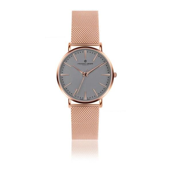 Zegarek z paskiem ze stali nierdzewnej w barwie różowego złota Frederic Graff Rose Eger Silver Mesh