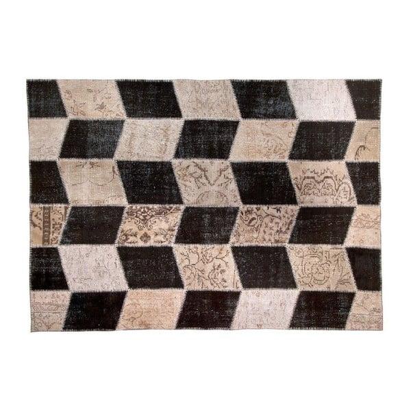 Vlněný koberec Allmode Black, 180x120 cm