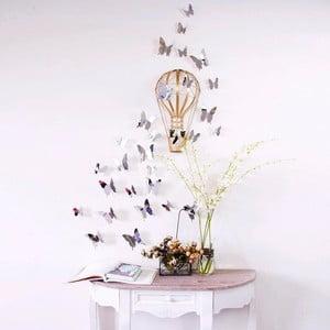 Sada 12 samolepek s 3D efektem Ambiance Mirror Butterflies