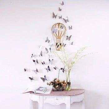Set autocolante cu efect 3D Ambiance Mirror Butterflies, 12 buc. de la Ambiance