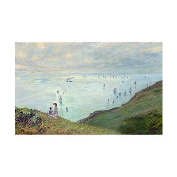 Obraz Claude Monet - Cliffs at Pourville, 80x50 cm