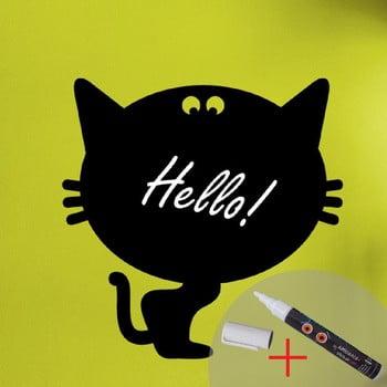 Autocolant tip tablă cu cretă lichidă Fanastick Cat