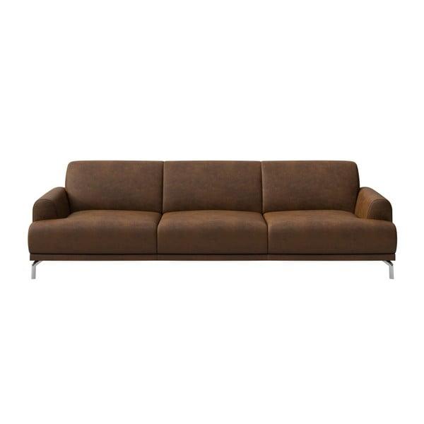 Canapea cu 3 locuri MESONICA Puzo, maro