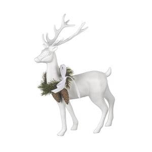 Dekorace Reindeer White, 31x24x9 cm