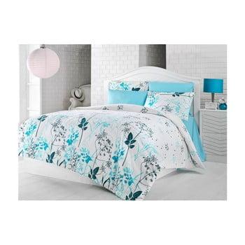 Lenjerie de pat cu cearșaf Summer Breeze, 200 x 220 cm de la Nazenin Home