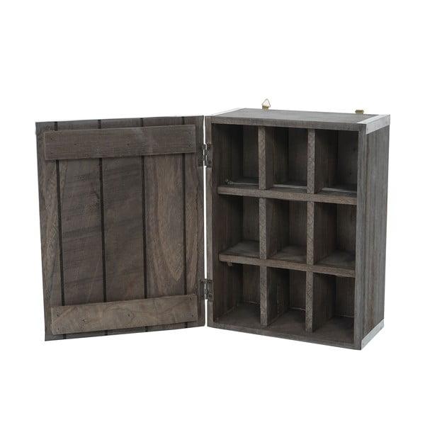 Šedá dřevěná úložná skříňka Mendler Shabby