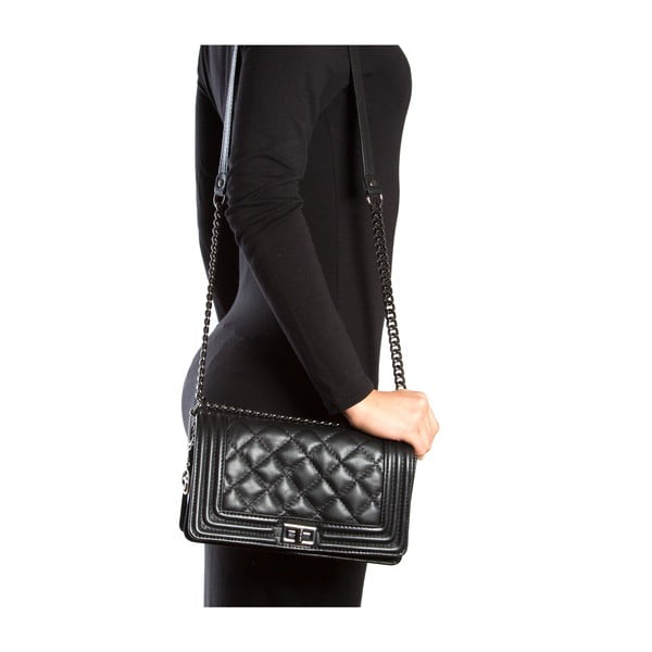 Kožená kabelka Fiola, černá