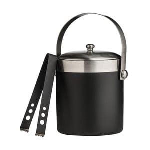 Černá dóza na led s kleštičkami Premier Housewares Bucket