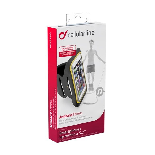 Sportovní soft pouzdro CellularLine, černé