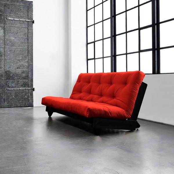 Canapea extensibilă Karup Fresh Wenge/Red