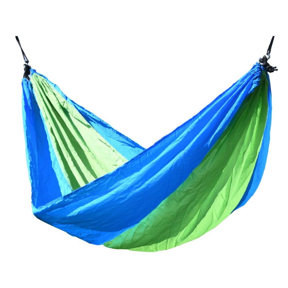 Zeleno-modrá houpací síť Cattara Nylon