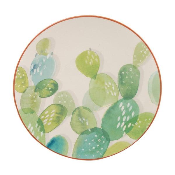 Keramický talíř s motivem kaktusu Creative Tops, ⌀20 cm