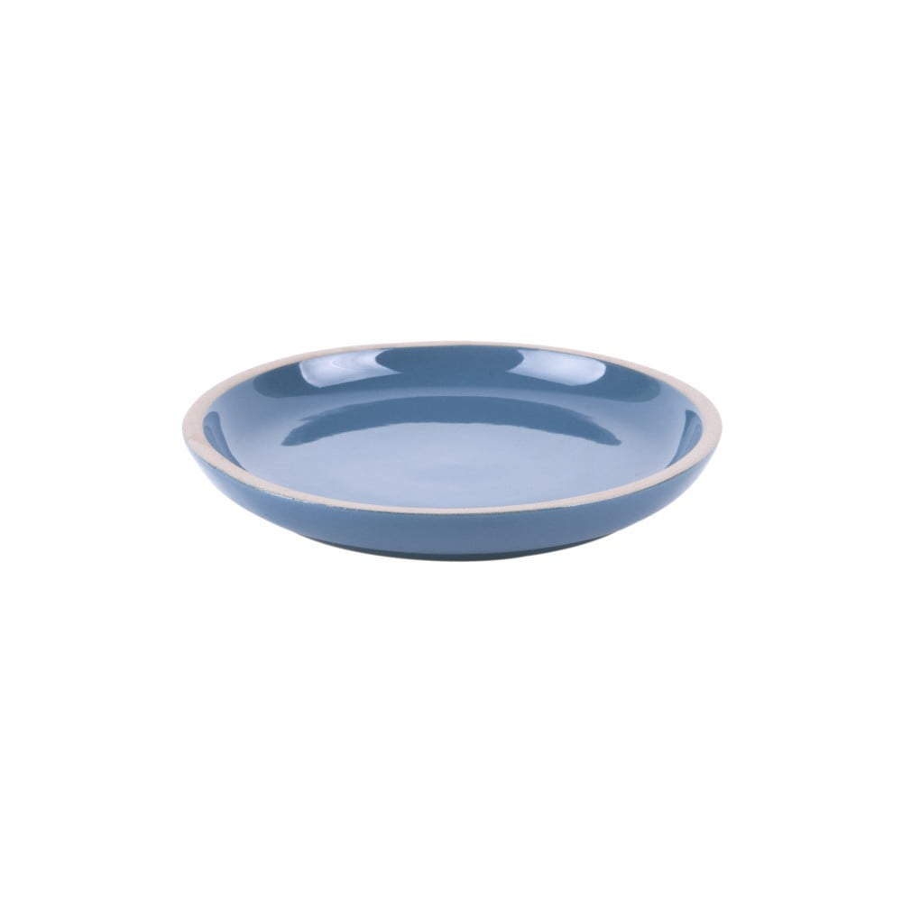 Modrý terakotový talíř PT LIVING Brisk, ⌀15,5cm