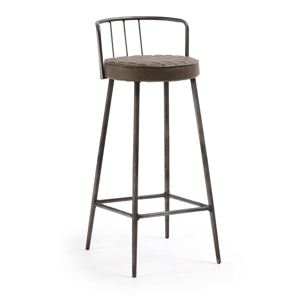 Hnědá barová židle La Forma, výška 92 cm