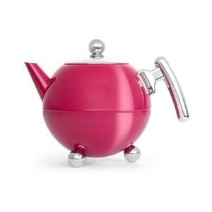 Tmavě růžová konvice na čaj Bredemeijer Bella Ronde, 1,2l