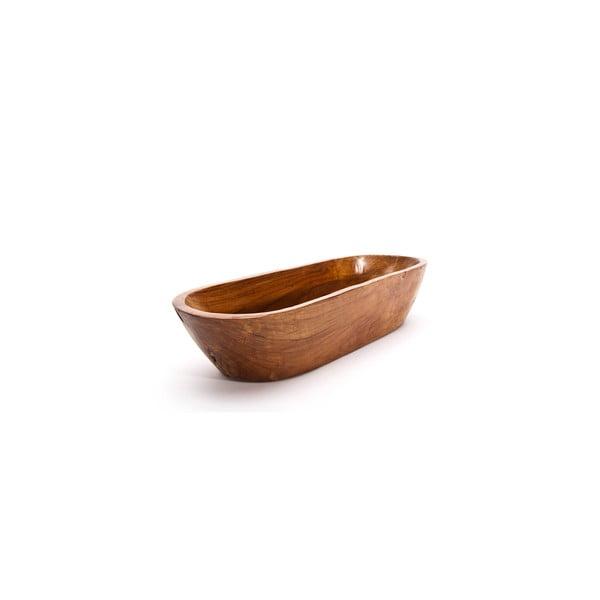 Ručně vyrobená teaková mísa Fup, 50 cm