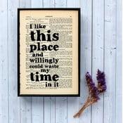 Plakát v dřevěném rámu Shakespeare I Like This Place