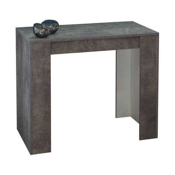 Sivý rozkladací jedálenský stôl Symbiosis Elastic