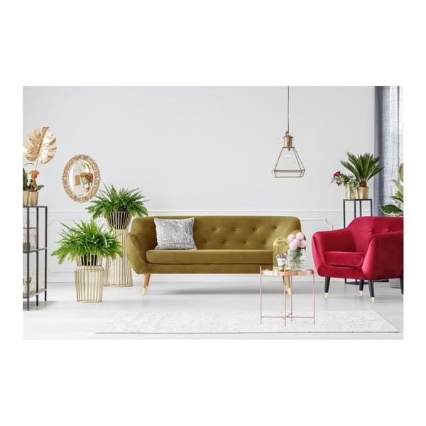 Třímístná pohovka ve zlaté barvě Mazzini Sofas Amelie