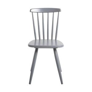 Šedá jídelní židle z borovicového dřeva SOB Irelia