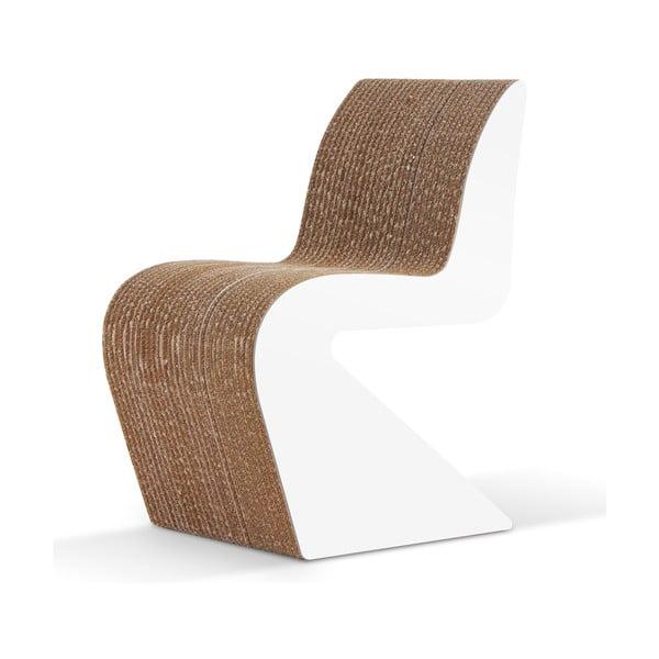Kartonová židle Amanda White