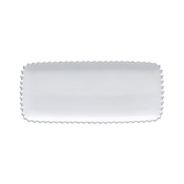 Platou din gresie ceramică Costa Nova Pearl, lungime 30 cm, alb