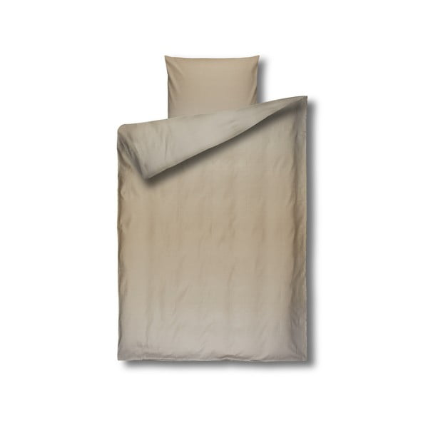 Lenjerie de pat din bumbac Casa Di Bassi Yama, 155 x 200 cm, bej